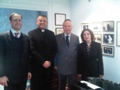 Rektor i Stjepo Bartulica s glavnim rabinom Arthurom Schneierom