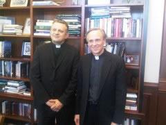 Rektor s predsjednikom sveučilišta Notre Dame, vlč. Johnom Jenkinsom