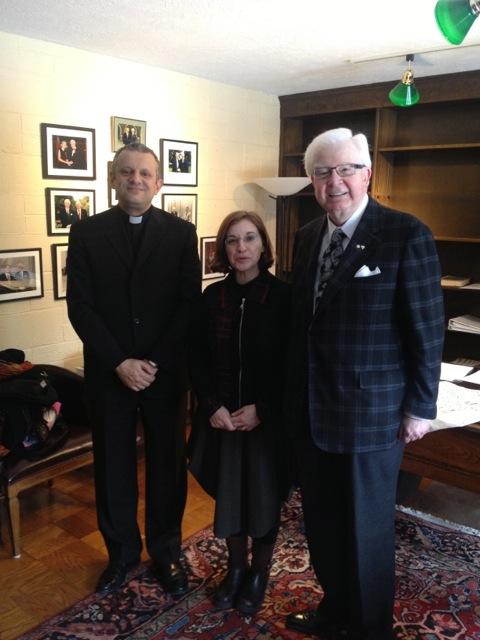 Rektor Tanjić, kustosica dr. sc. Greti Dinkova-Bruun i predsjednik Instituta dr. sc. Richard M. H. Alway.