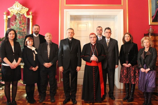 Delegacija HKS-a u božićnom čestitanju kod zagrebačkog nadbiskupa kardinala Josipa Bozanića