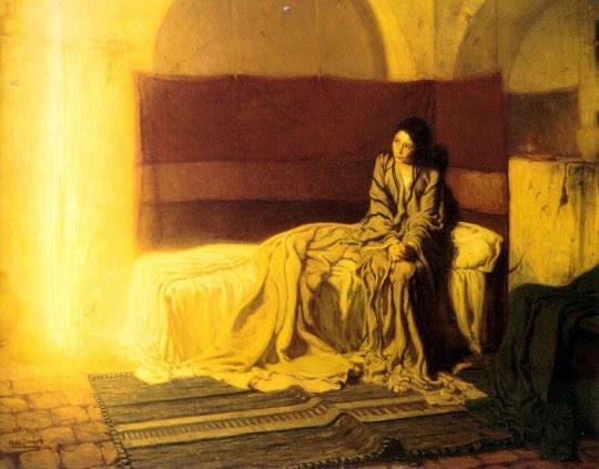 """Anđeo Gospodnji navijestio Mariji. I ona je začela po Duhu Svetomu."" Henry Ossawa Tanner. The Annunciation, 1898. Philadelphia Museum of Art"