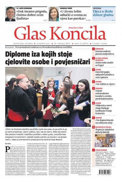 Glas Koncila naslovnicu posvetio promociji sveučilišnih prvostupnika Odjela za povijest