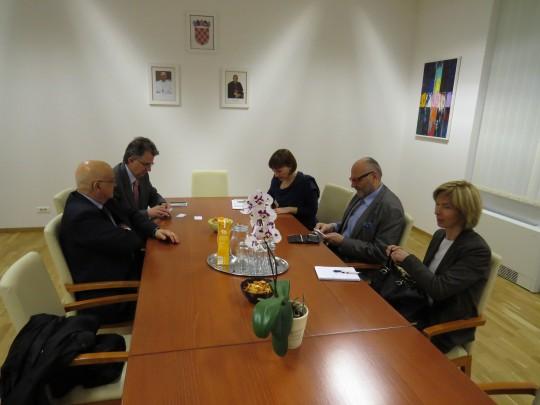 Radni sastanak s delegacijom Sveucilista Orléans.