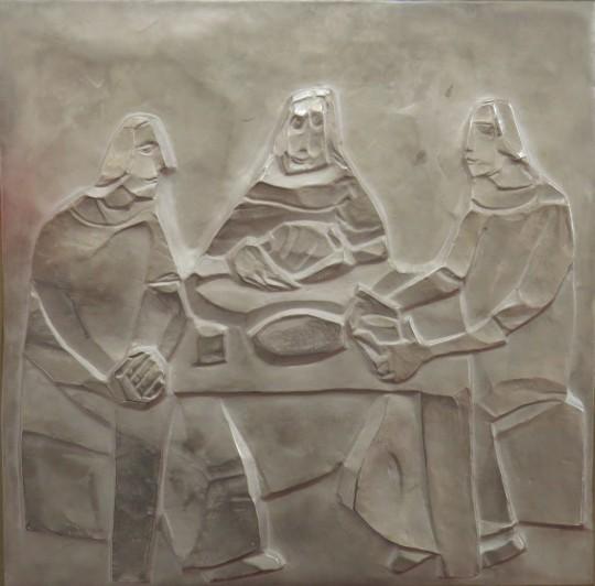 Mile Blažević, Emaus, detalj sa svetohraništa u Sveučilišnoj kapeli HKS-a