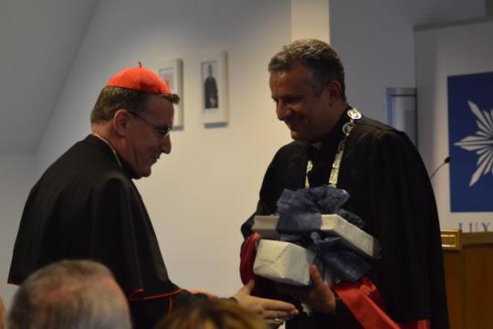 Rektor Tanjić čestitao je kardinalu Bozaniću 25. obljetnicu biskupske službe.