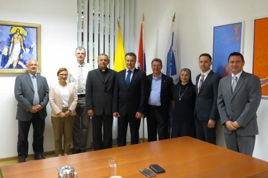 Delegacija Sisačko-moslavačke županije i uprava Hrvatskog katoličkog sveučilišta