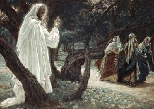J. Tissot: Isus se ukazuje svetim ženama (Brooklyn museum)