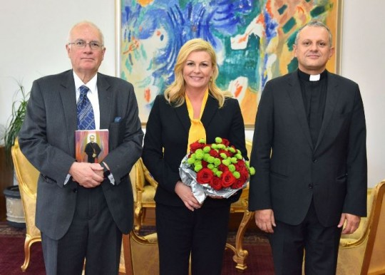 Dr. sc. Robin Harris i rektor prof. dr. sc. Željko Tanjić u posjetu kod hrvatske predsjednice