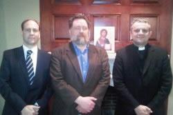 Rektor i Stjepo Bartulica s direktorom Instituta Lumen Christi na sveučilištu Chicago, Thomasom Levergoodom