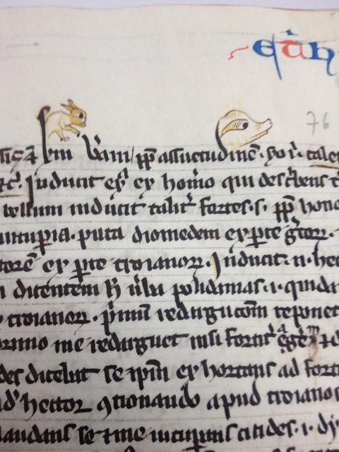 Stranica manuskripta komentara sv. Tome Akvinskog o Aristotelu