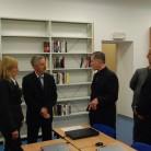 Biskup Cupich, rektor Tanjić i nadstojnik Sveučilišne knjižnice mr. sc. Tomislav Murati