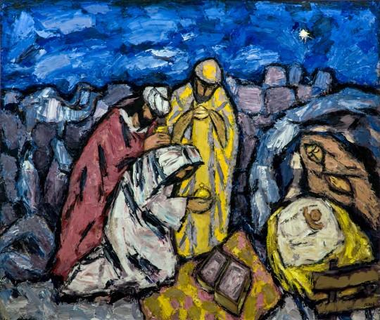 Bogojavljenje, Đuro Seder, oltarna slika u Sveučilišnoj kapeli na HKS-u