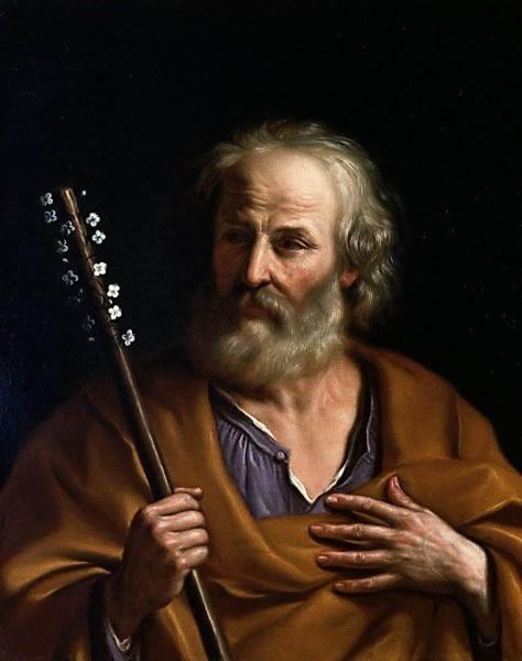 Guercino: Sveti Josip s mističnim štapom . st.(Galerija Pitti u Firenci)