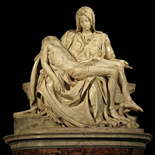 Pietà (Michelangelo) – mramorna skulptura,1500., Crkva sv. Petra u Vatikanu.