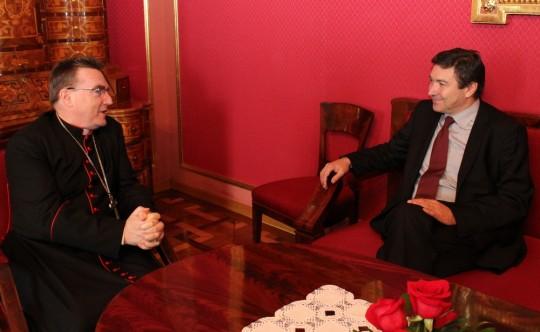 Kardinal Josip Bozanić i ministar Vedran Mornar
