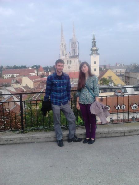 Miroslava Sekanová i Martin Helik, dvoje studenata psihologije s Katoličkog sveučilišta Ružemberok iz Slovačke     na Erasmus razmjeni studenata na HKS-u