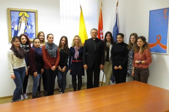 Susret rektora Tanjića s Volonterskom skupinom