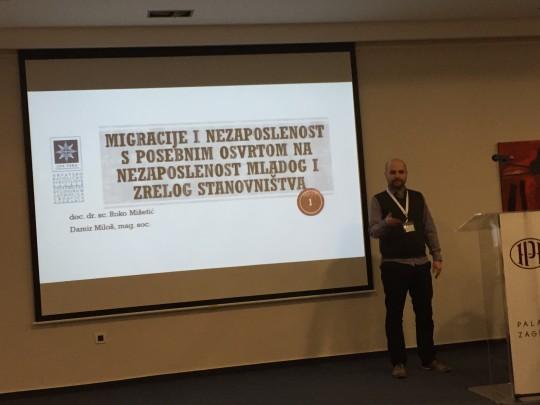 Damir Miloš, asistent na Odjelu za sociologiju