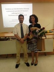 Doc. dr. sc. Dario Sambunjak i dr. sc. Tina Poklepović nakon uspješne obrane doktorske disertacije 12. svibnja 2015. na Medicinskom fakultetu u Splitu