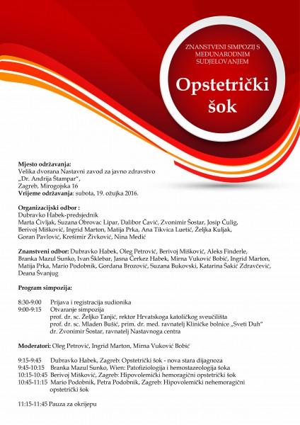 Opstretički šok_program2