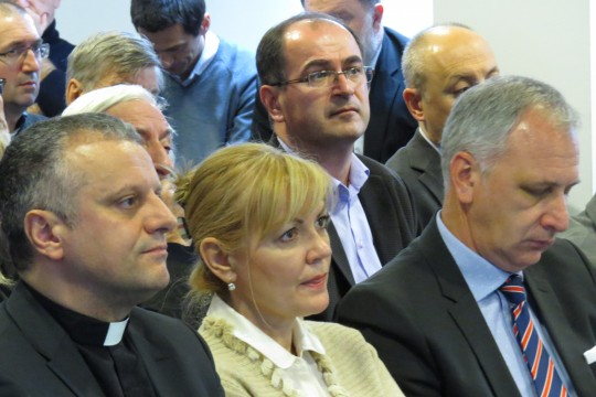 Rektor Tanjić, ministrica socijalne politike i mladih RH gđa. Bernardica Juretić i izaslanik Predsjednice RH g. Andro Krstulović-Opara