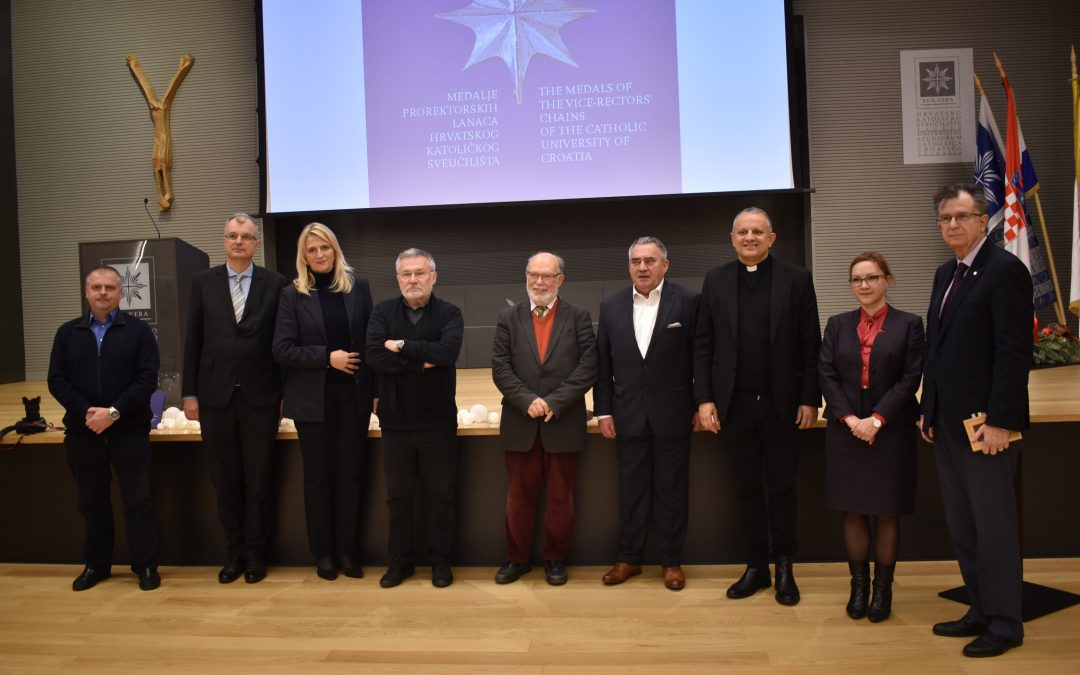 """Predstavljena monografija """"Medalje prorektorskih lanaca Hrvatskog katoličkog sveučilišta"""""""